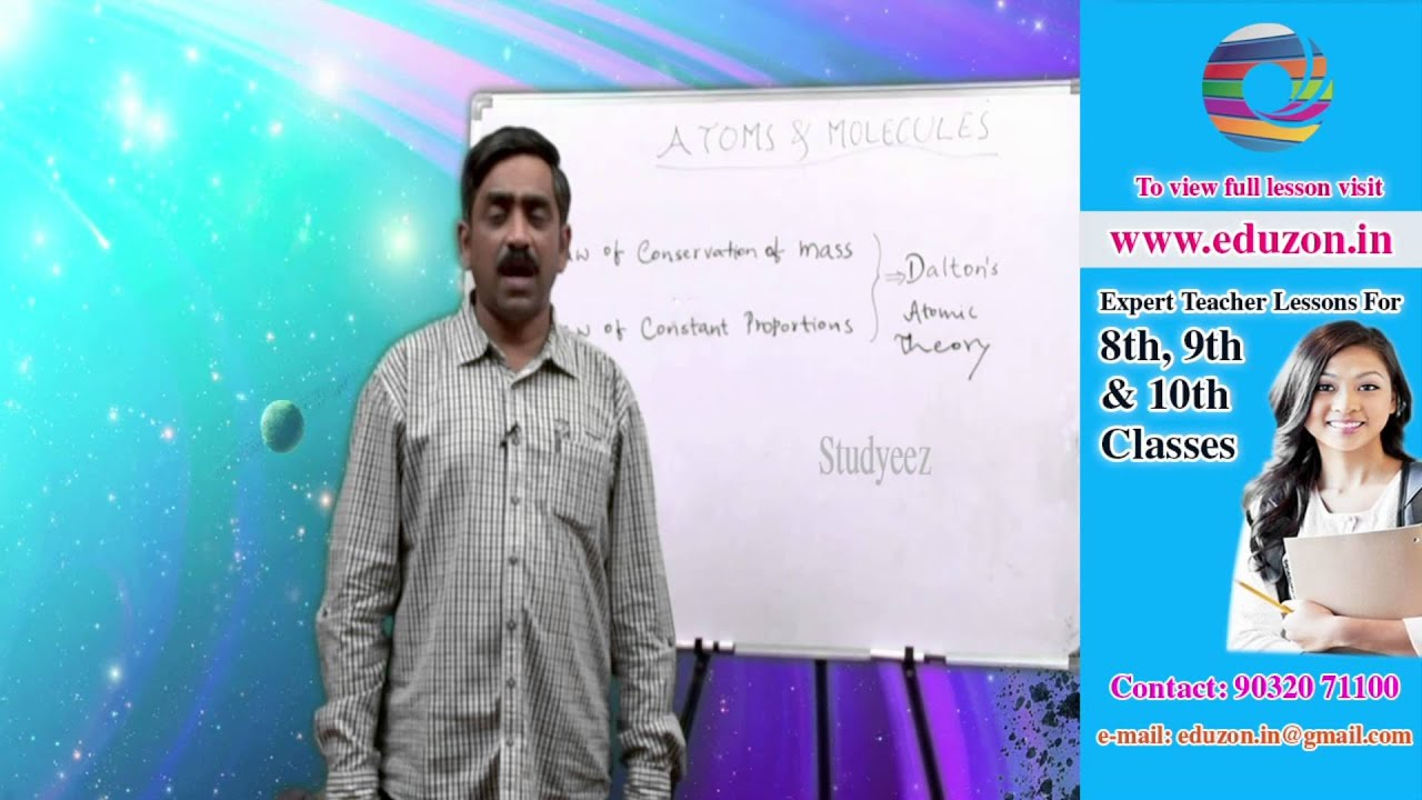 Atoms and molecules - 9th class Physical Science - YouTube
