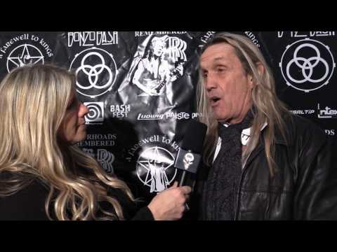 Nicko McBrain of Iron Maiden! Red carpet interview by Krishta Abruzzini