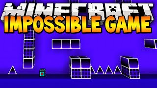 Minecraft The Impossible Game Challenge! (Minecraft 1.8 Geometry Wars) w/ Lachlan