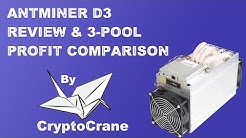 AntMiner D3 Review with 3-Pool Profit Comparison by CryptoCrane
