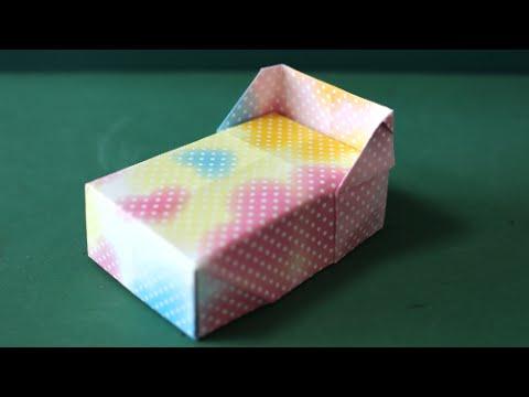 「ベビーベッド」折り紙 Crib Origami