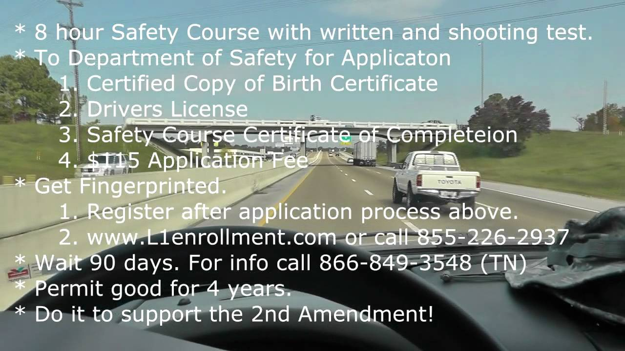 Handgun carry permit in tennessee my application experience handgun carry permit in tennessee my application experience youtube 1betcityfo Choice Image