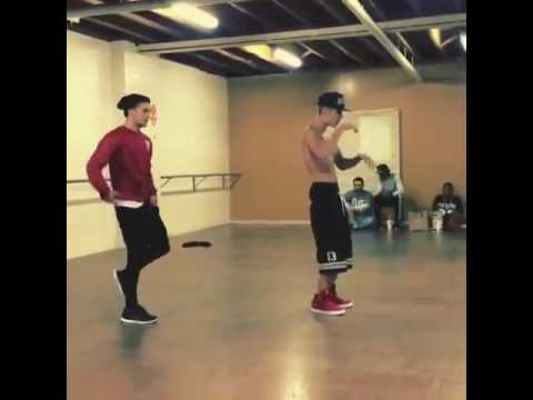 Justin Bieber dancing on confident
