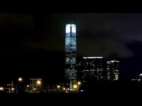 Hong Kong ICC Tower Light Show