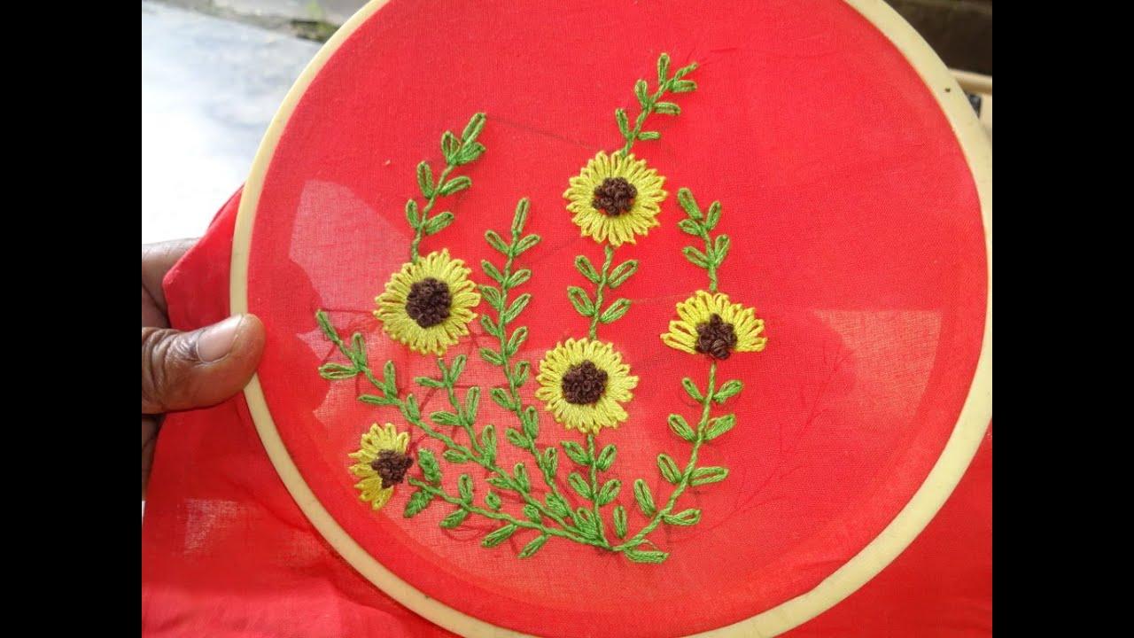 Hand embroidery lazy daisy stitch flower designs by amma arts hand embroidery lazy daisy stitch flower designs by amma arts youtube izmirmasajfo