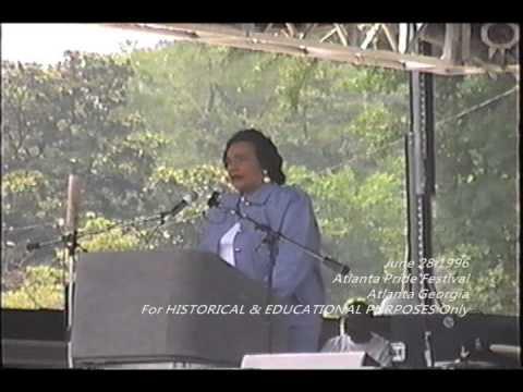 1996 Atlanta Gay Pride Festival Speech by Coretta Scott King
