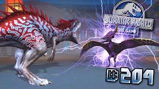 VALKRYIE 77 PTERANODON ATTACKS!! + MAXED ANKYLODOCUS HYBRID! || Jurassic World - The Game - Ep204 HD