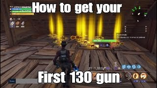 How to get your first *130 gun* in Fortnite Save The World