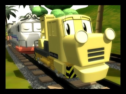 Train Animation/ Kereta Api, Jengki Bantalan Rel #part 1