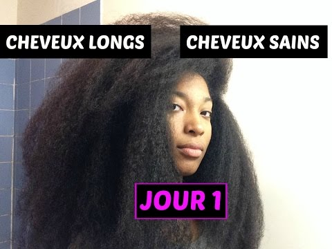 """Challenge pousse et cheveux sains   Jour 1 : programme de la semaine n°2 et """"blablatage""""."""