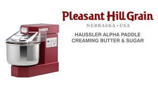 Creaming butter and sugar in Haussler Alpha mixer