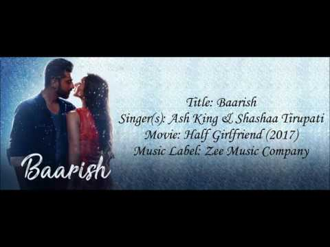 Baarish Half Girlfriend lyrical video with English translation