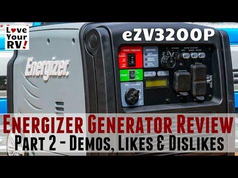 3200 Watt Energizer Portable Inverter Generator Review (Model eZV3200P)
