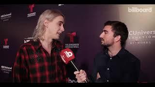 Benito Cerati en el warm up de los Latin Billboard Music Awards en Buenos Aires