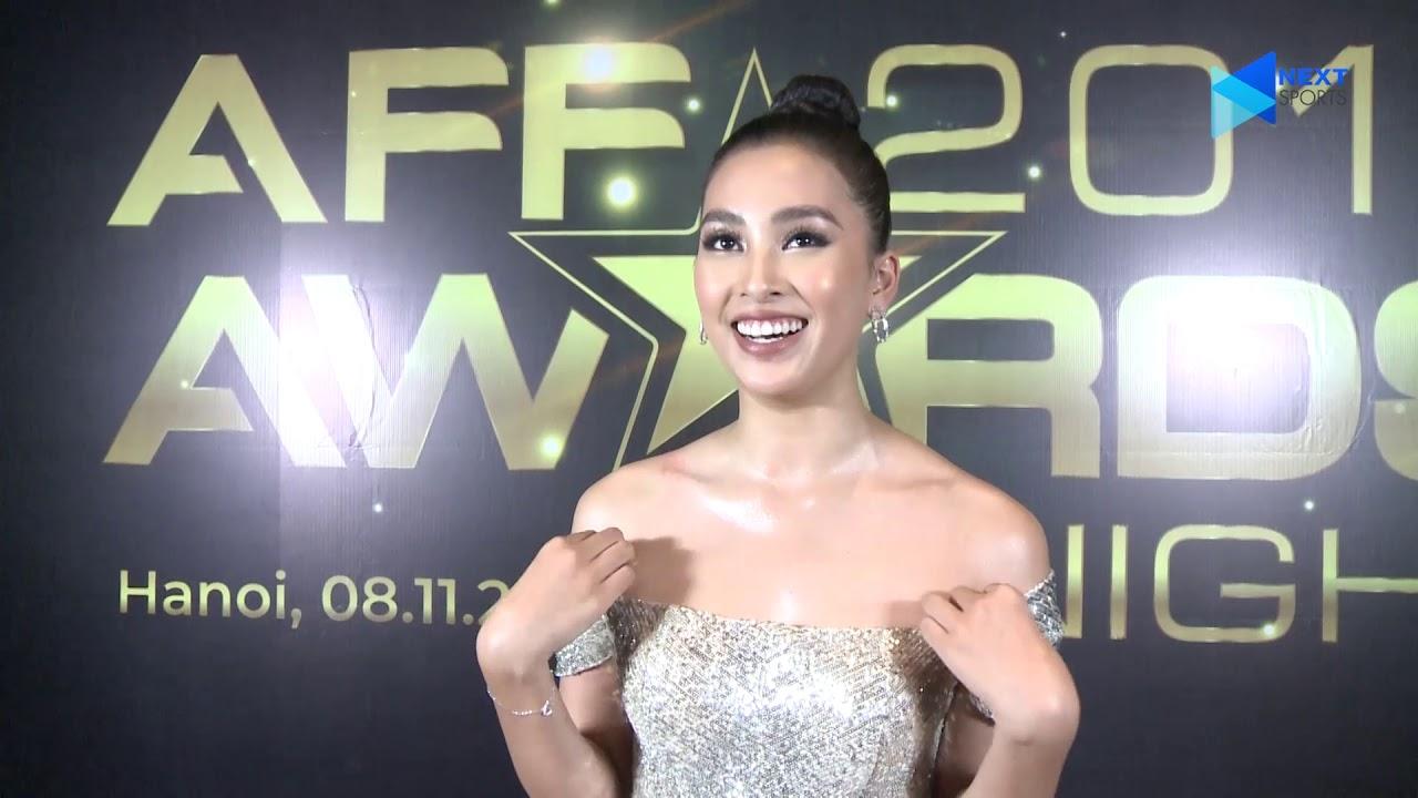 Hoa hậu Tiểu Vy khen Quang Hải nam tính, mạnh mẽ tại lễ trao giải AFF Awards 2019 | Next Sports