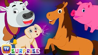 Surprise Eggs Nursery Rhymes Toys   Learn Farm Animals & Animal Sounds With Mr.Harlo   ChuChu TV