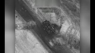 فيديو غارة التحالف الدولي على القوات الرديفة في دير الزور السورية