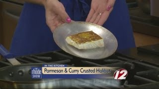 Cooking: Parmesan & Curry-crusted Halibut