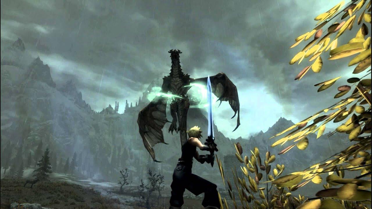 Ff7 Wallpaper Hd Final Fantasy 7 Mod Skyrim Hd Ultima Weapon Youtube