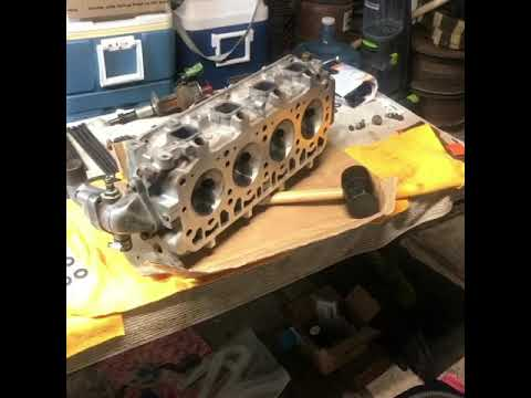 VLOG #11 My 3tc Build Rod Piston head work for Turbo