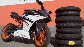 Small Sportbike Tire Comparison With KTM RC390 | MC GARAGE