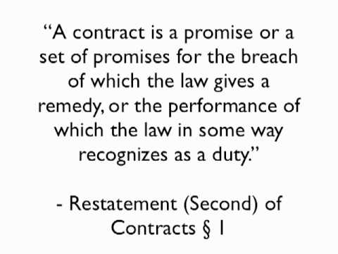 Rules of the Legal Game - Contracts 1 - The Definition of Contract