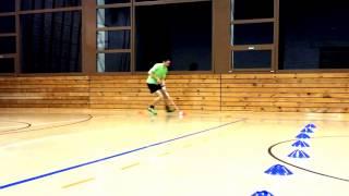 ФЛОРБОЛ---введение мяча,финты,бросок