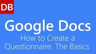 Google Drive'da bir Anket Oluşturma Google Docs Öğretici: Temel