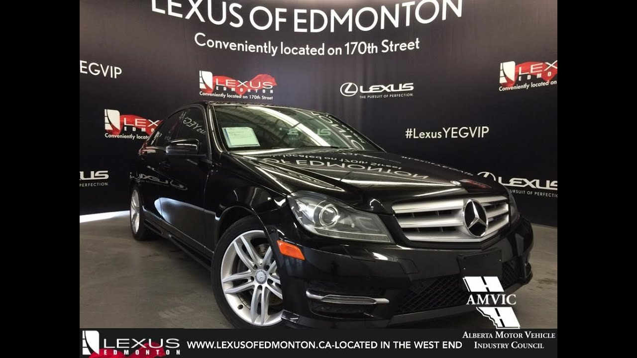 used black 2013 mercedes benz c class c300 4matic in depth review beaumont alberta