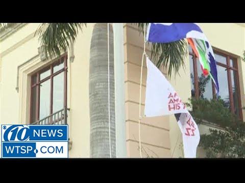 St. Pete Mayor Rick Kriseman kick-started Black History Month with flag raising ceremony