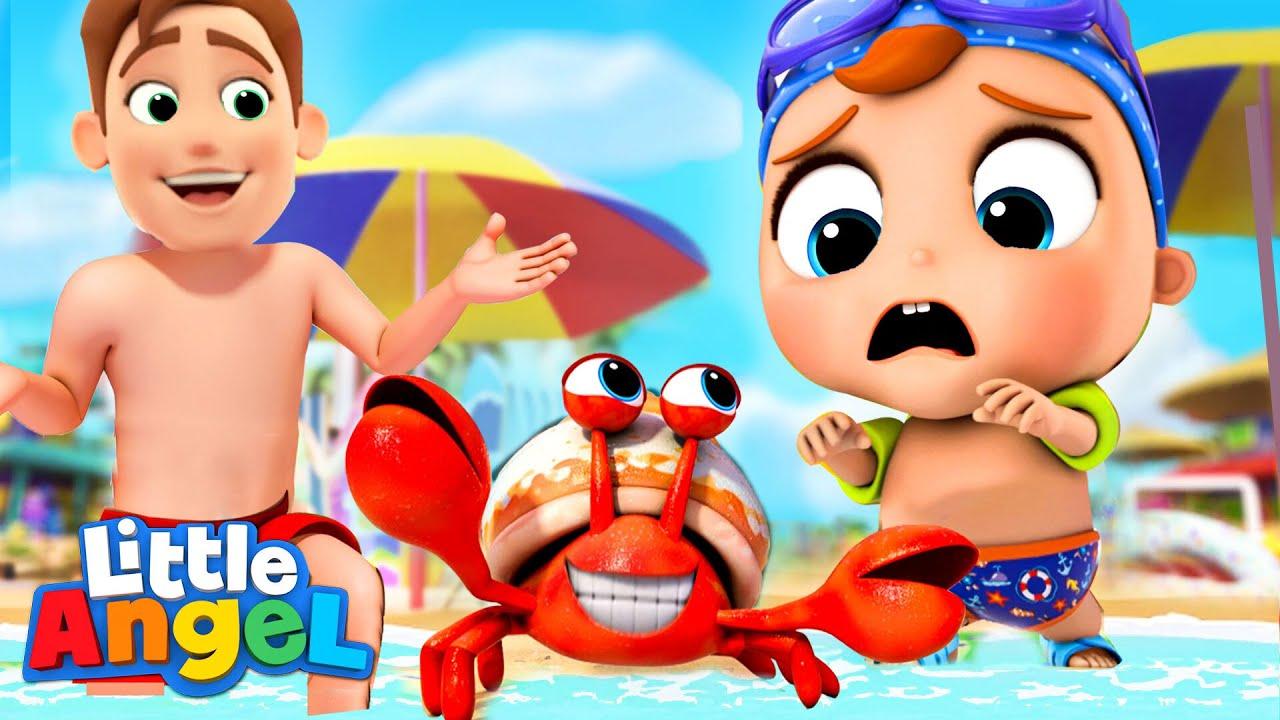 Beach Song | Baby John Learns About Sunscreen | Little Angel Kids Songs & Nursery Rhymes