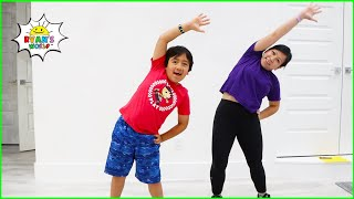Kids Workout Video at home 30mins Family fun with  Ryan's World!!