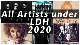 All Artists under LDH Japan 2020