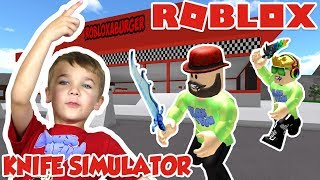 ROBLOX KNIFE SIMULATOR / BE THE BEST ASSASSIN in ROBLOX