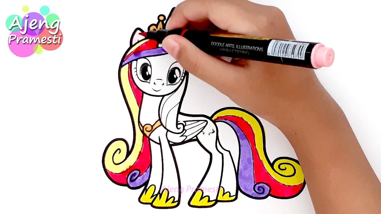 Belajar Mewarnai Gambar Putri Cadance My Little Pony Youtube