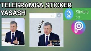 Telegram Uchun Sticker Yasash, Sticker Making, Как Сделать стикер, Telegram Sirlari