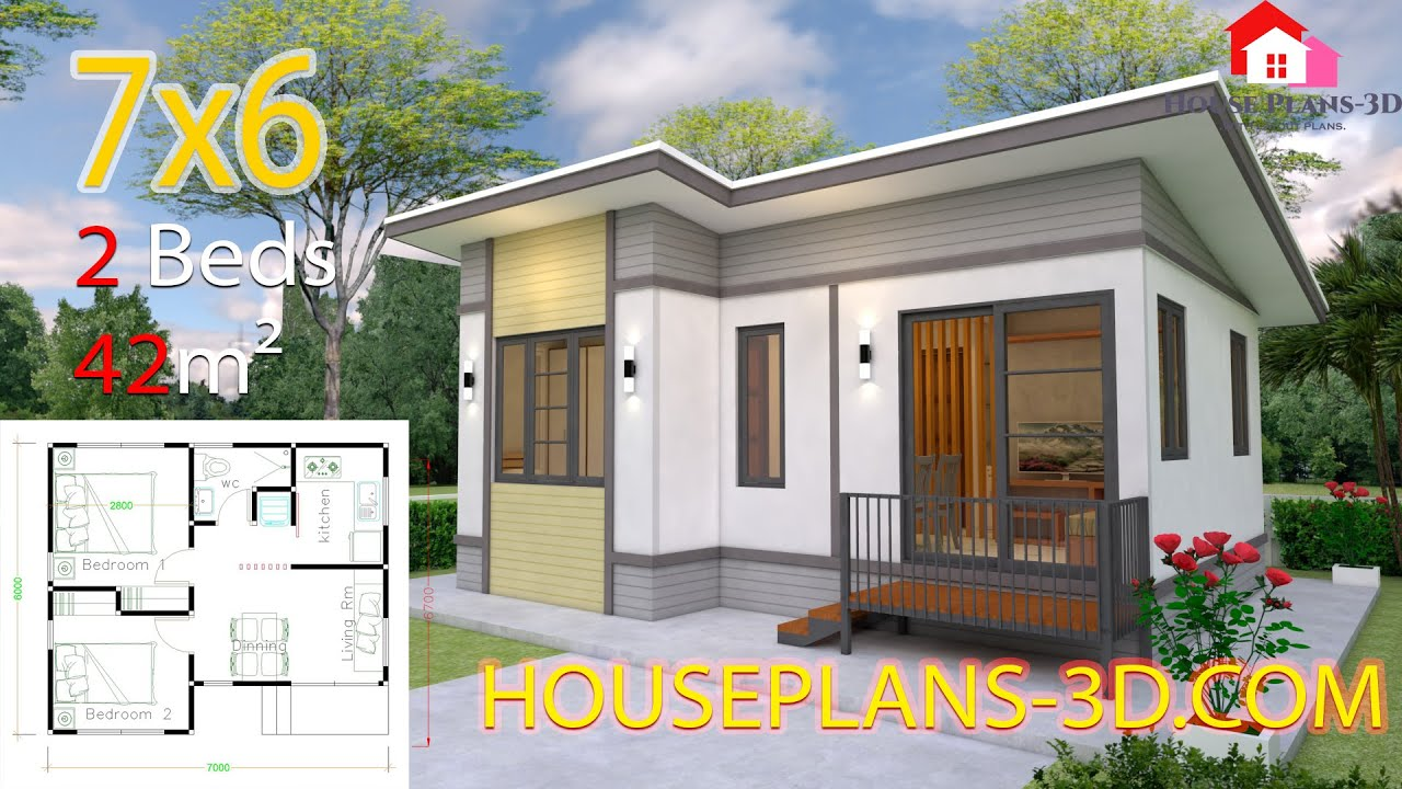 Interior Small House Design 7x6 with 2 Bedrooms Full Plans ...