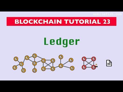 Blockchain tutorial 23: Ledger