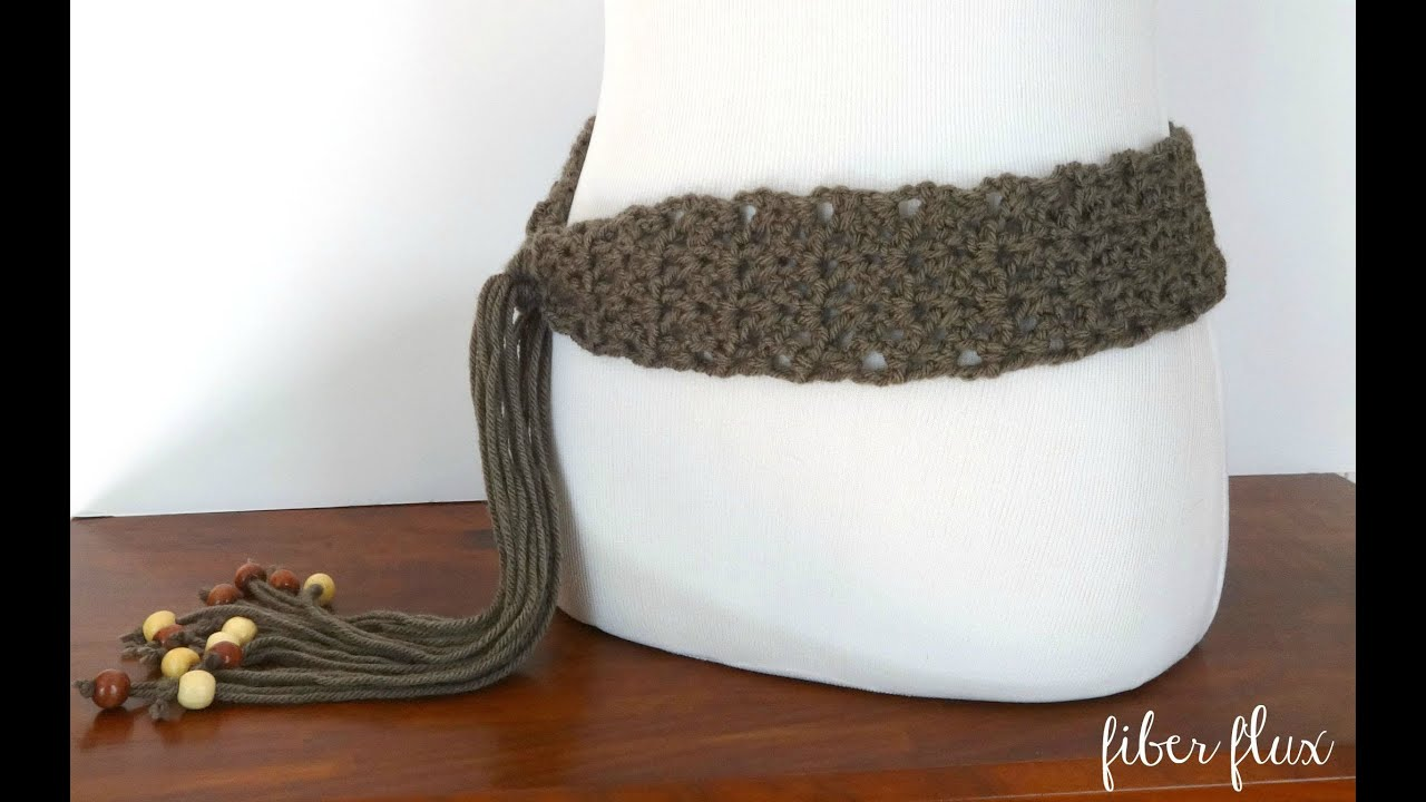 How To Crochet The Modern Taupe Belt Episode 230 Youtube