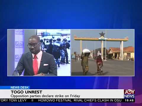 Togo Unrest - News Desk on Joy News (23-8-17)
