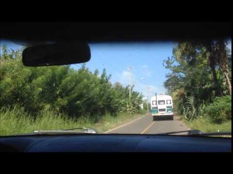 Driving from Trinity Hills Valley to Capira, Panama
