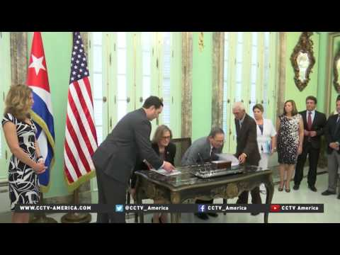 First anniversary of renewed US diplomatic relations with Cuba