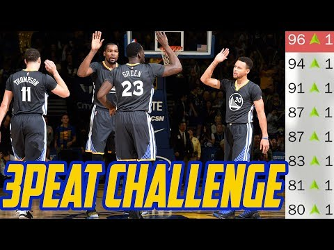 3 PEAT OR BUST! Golden State Warriors Rebuild! NBA 2K18