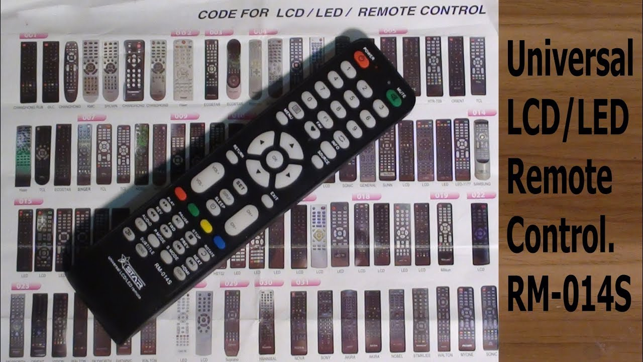 Universal LCD/LED Remote Control RM-014S#Pro Hack
