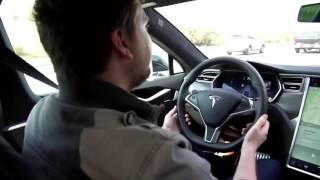 Tesla Autopilot (Self-Steering) Model S: Test Drive