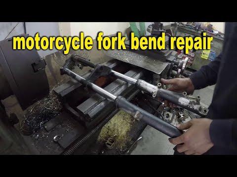 motorcycle fork bend repair | pulsar 180 old | bullet singh boisar