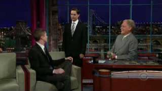 Topher Grace on Letterman for Spider Man 3