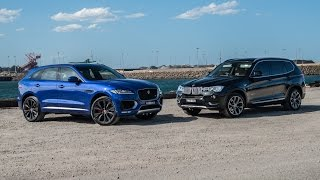 2016 Jaguar F-PACE 30d vs BMW X3 30d: 0-100km/h & engine sound comparison