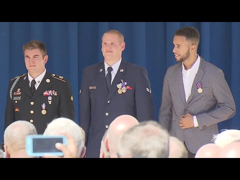 Paris Train Heroes Awarded Medals At Pentagon- Full Ceremony