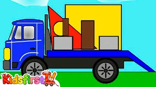 smart kids learn color cartoons for children 4 build a house from shapes 聪明的孩子创建具有彩色形状 abc 123
